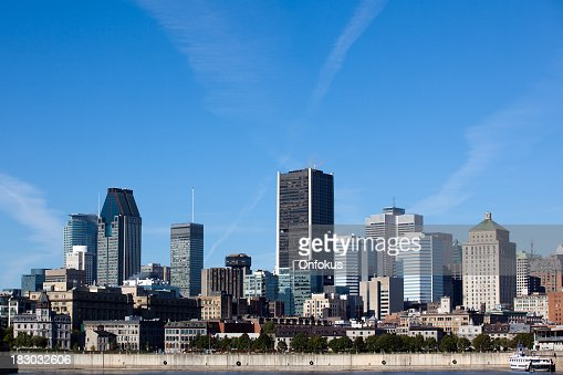 City of Montreal Cityscape in Summer