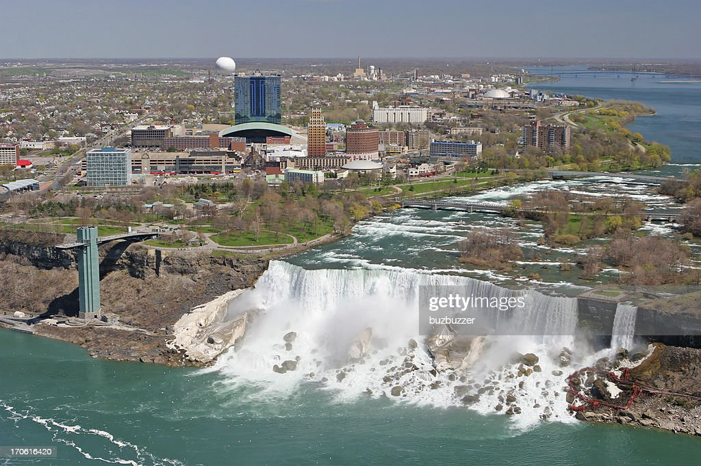 City of Niagara falls on the american side : Stock Photo