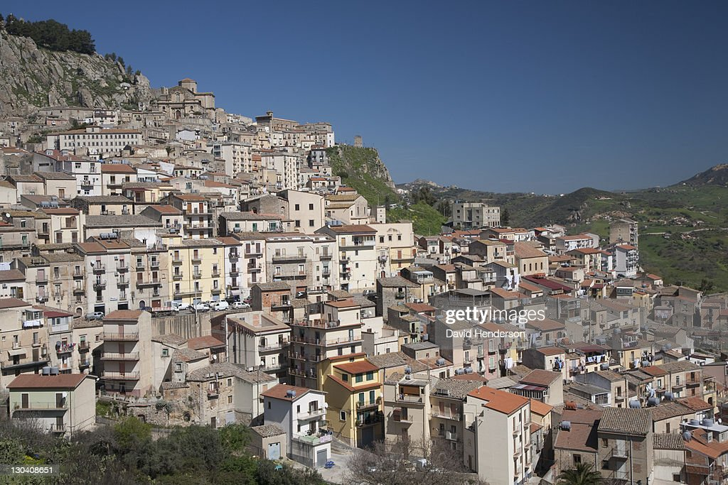 City of old buildings on hillside : Stock Photo