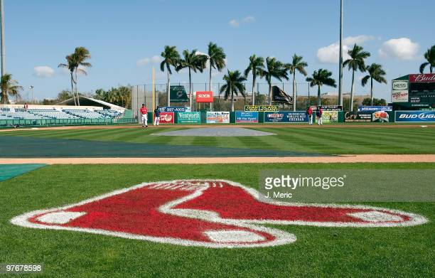 City of Palms Park just prior to the start of the Grapefruit League Spring Training Game between the Pittsburgh Pirates and Boston Red Sox on March...