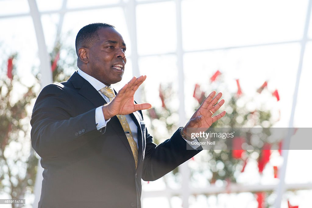 City of Plano Mayor Harry LaRosiliere addressed a crowd at the Toyota North America groundbreaking ceremony on January 20, 2015 in Plano, Texas.