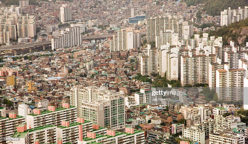 City of Seoul, areial view. : Stock Photo