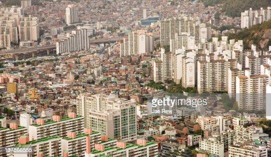 City of Seoul, areial view. : Stock Photo