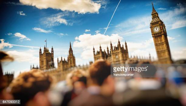 city of westminster in london full of people