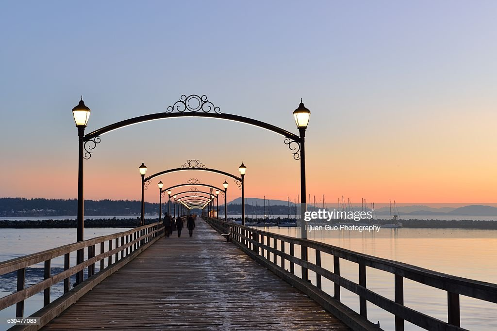City of White Rock Pier Park at sunset