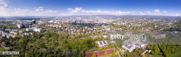 City of Wiesbaden, Germany - aerial panoramic view