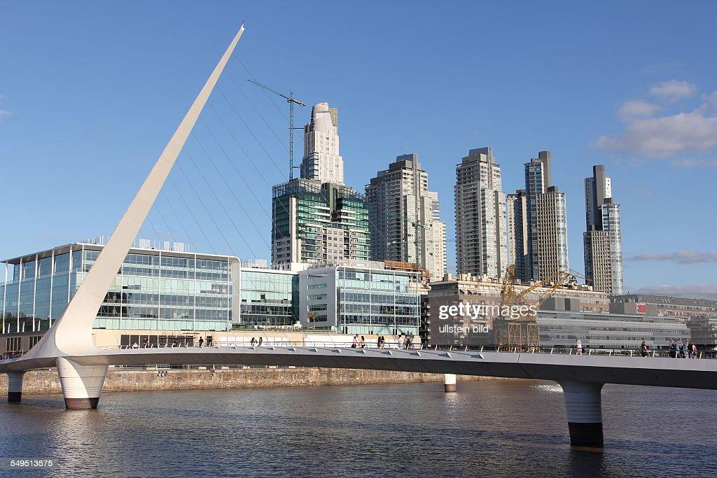 City overview, Puente de la Mujer at Puerto Madero