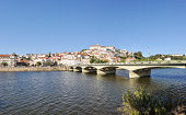 City panorama of Coimbra and the river Mondego