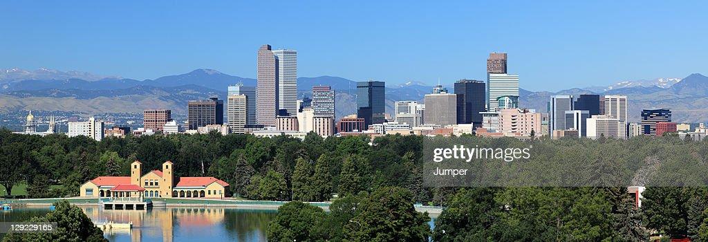 City Park and Denver Skyline Panorama