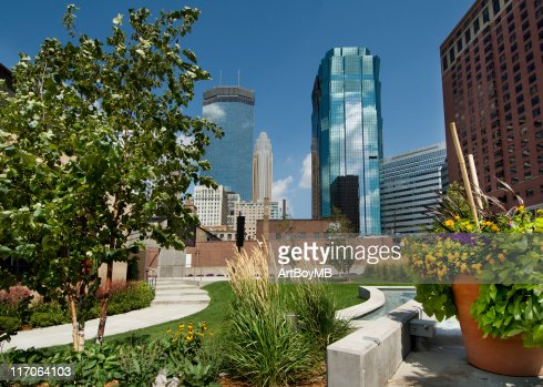 City park view of Minneapolis, Minnesota