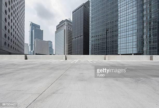 City parking lot