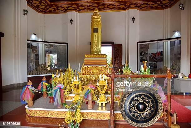 City Pillar shrine buddhist temple Vientiane Laos