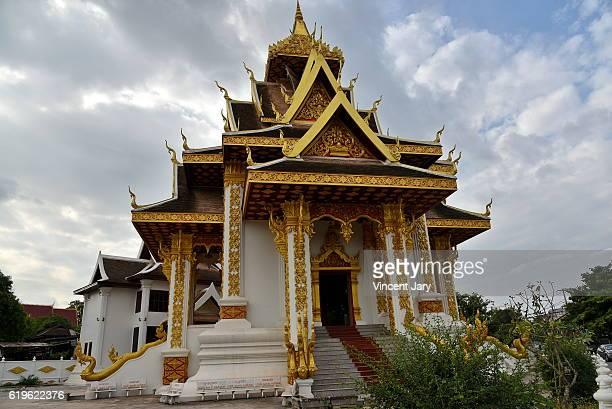 City Pillar shrine temple Vientiane Laos