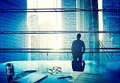 City Scape Businessman Thinking Concepts