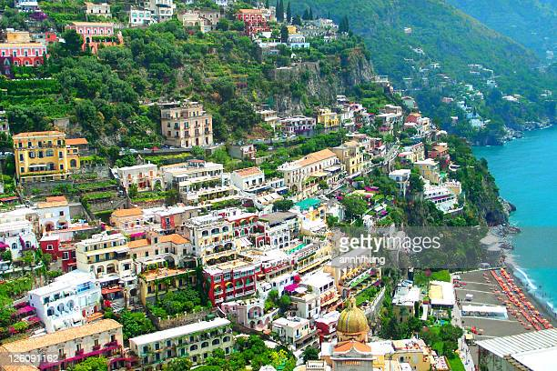 city sits in an enclave in hills leading to coast