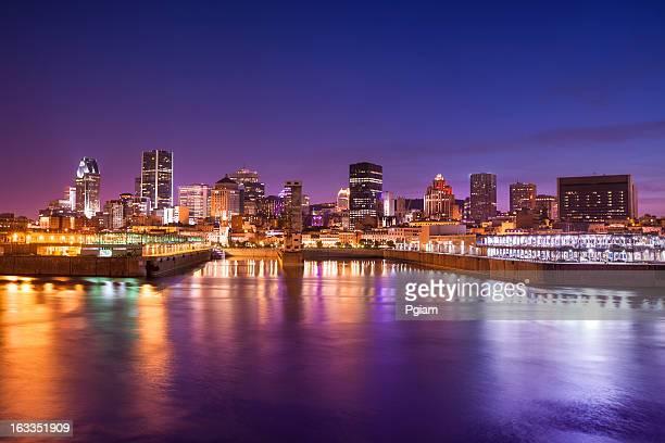 City skyline at night, Montreal, Canada