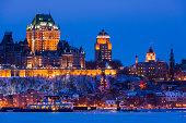 City skyline at night/twilight, Quebec City