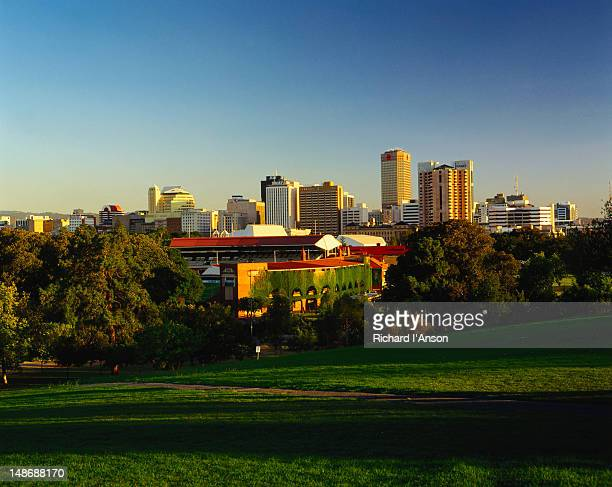 City Skyline featuring the cricket ground - Adelaide, South Australia