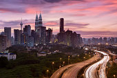 """A cityscape of the downtown area of Kuala Lumpur, capital city of Malaysia."""
