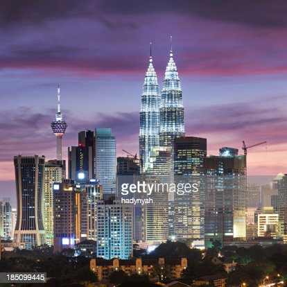 City skyline - Kuala Lumpur at dusk