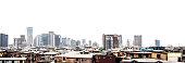 African city skyline.