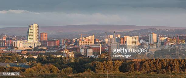 UK, England, Yorkshire, Leeds, City at sunrise