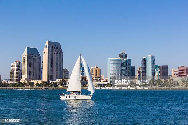 City Skyline Of San Diego, California (P)