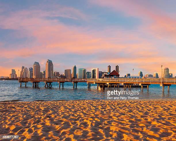 Skyline della città di San Diego, California, USA
