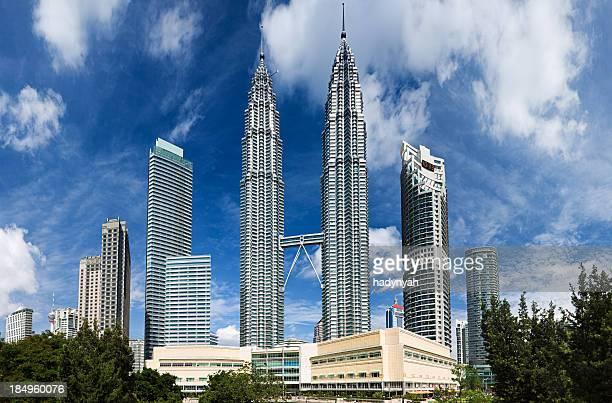 City skyline Twin Towers panorama in Kuala Lumpur 57MPix XXXXL