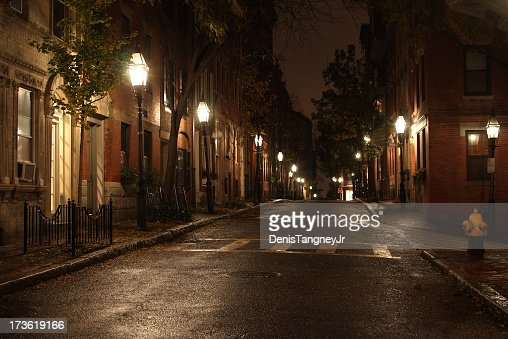City Street At Night Stock Photo | Getty Images