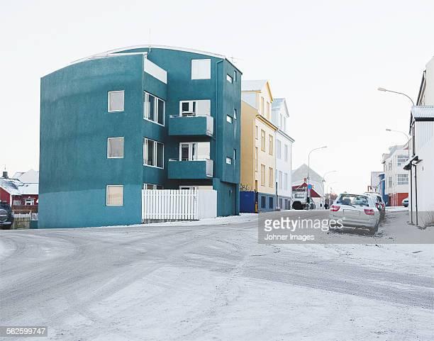 City street at winter
