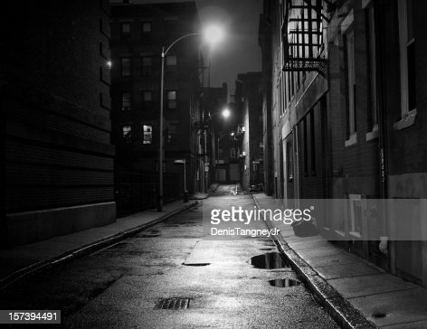 City Street in Black and White