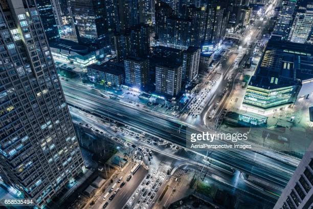 City Traffic of Beijing at Night