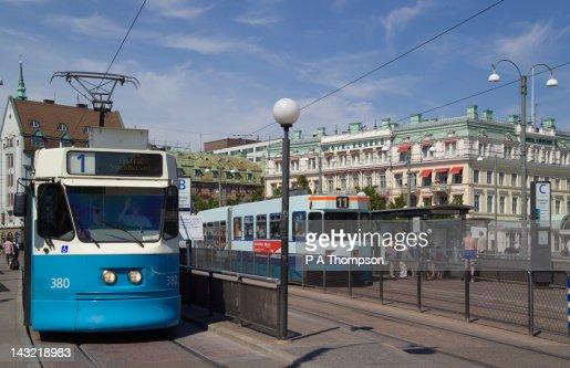 City Trams, Gothenburg, Sweden : Stock Photo