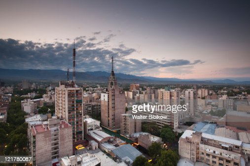 City view from the east, Mendoza, Mendoza Province, Argentina
