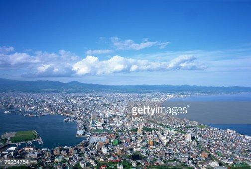 City view, Hakodate, Hokkaido, Japan : Stock Photo