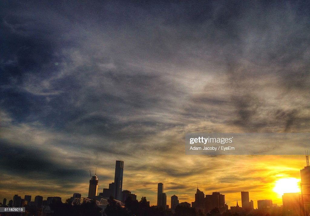City view in sunset : Stock Photo