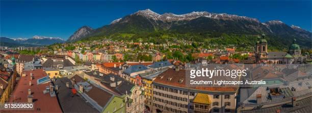 City view of Innsbruk, in the alpine region of Tyrol, Austria