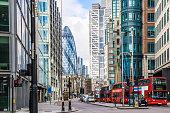 City View of London around Liverpool Street station