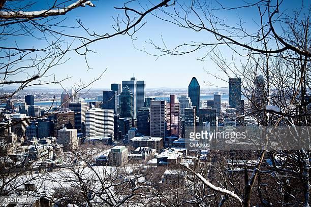 Blick auf die Stadt Montreal im winter