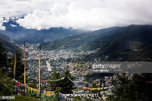 City view of Thimpu, Bhutan.