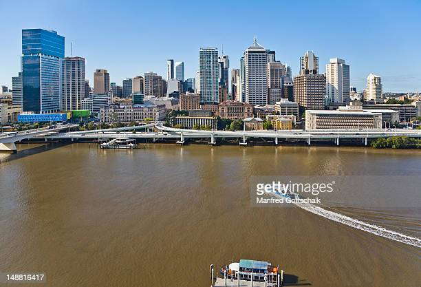 City view with Brisbane River from the Southbank.