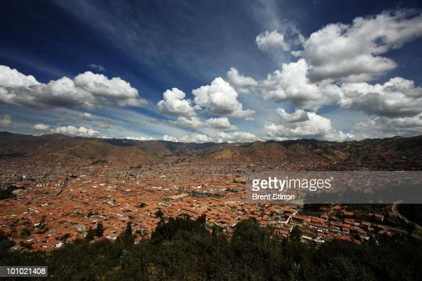 City views of Cuzco the Inca capital of Peru Cuzco Peru 24 June 2007