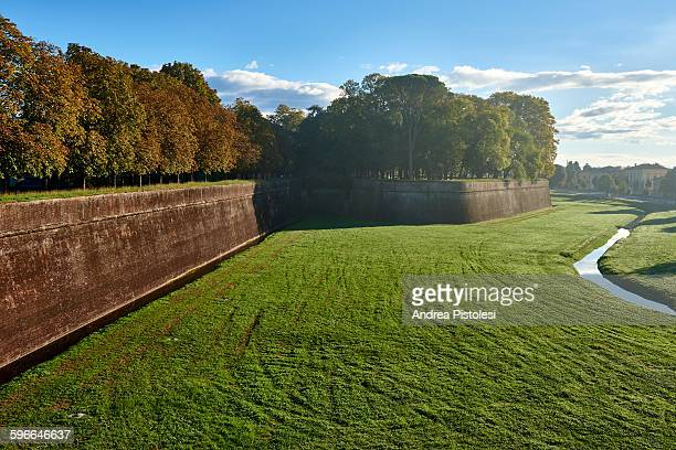 City Walls of Lucca, Tuscany, Italy