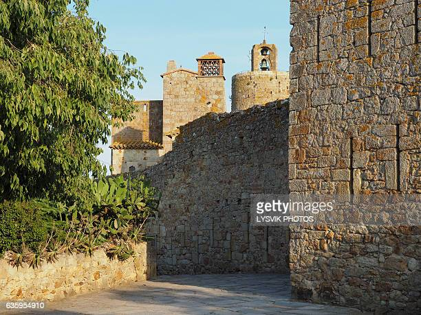 City walls of medieval town Pals, Catalonia