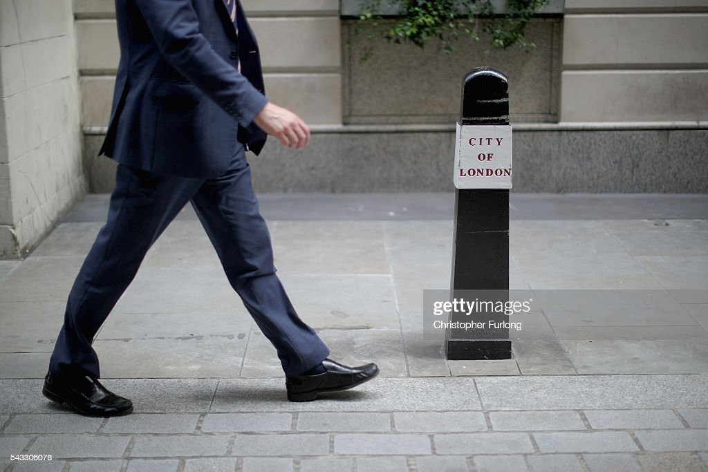 City workers make their way home as the financial markets face uncertainty in the wake of Brexit on June 27, 2016 in London, England. Earlier today Chancellor George Osborne said that contingency plans were in place to shore up the economy amid ongoing market volatility after Britain's vote to exit the European Union.