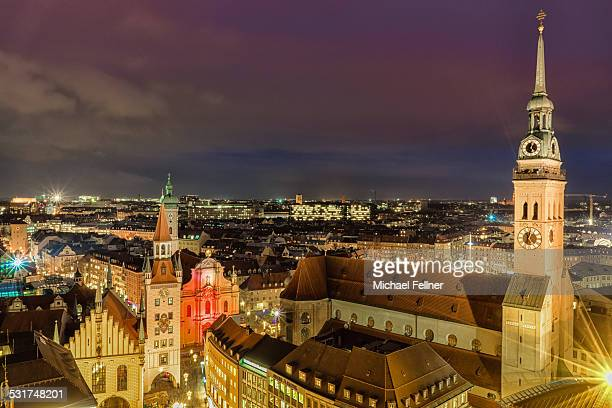 Citysape of Munich at night