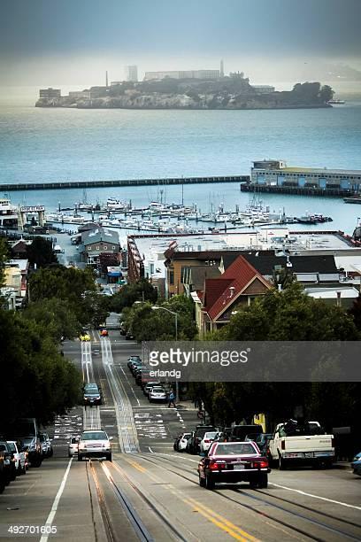 Cityscape and Alcatraz Island, San Francisco, California, America, USA