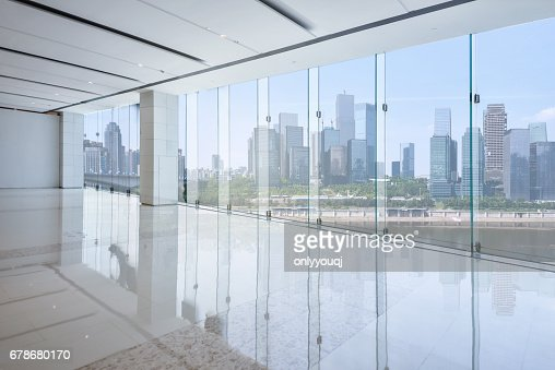 cityscape and skyline of chongqing from glass window : Stock Photo