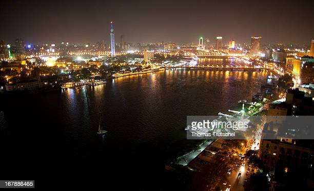 Cityscape and the Nile at night